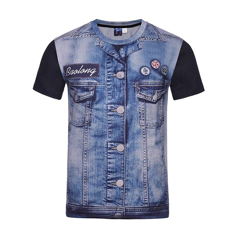 Oversized 4XL Women Men 3D Print Jeans T shirt Short Sleeve O Neck Elastic Loose Hip Hop Punk Rock Top Lovers Couple Tee T-shirt