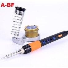 Цифровой комплект для электрического паяльника A BF GT90E, 90 Вт, с регулировкой температуры, 220 В, наконечники паяльника, подставка для паяльника