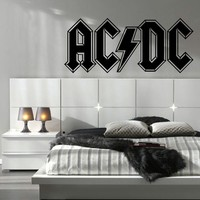 ACDC AC DC LARGE KITCHEN BEDROOM WALL MURAL GIANT ART STICKER DECAL MATT VINYL WALL STICKERS