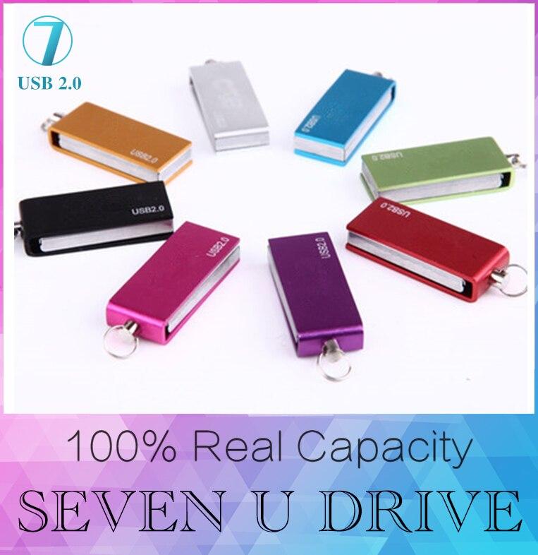 Yüksek Kaliteli Dikdörtgen Metal USB Flash Sürücü 512 GB Kalem Sürücü 256 GB Pendrive USB 2.0 Memory Stick Diski 128 GB 8 GB 16 GB 32 GB 64 GB