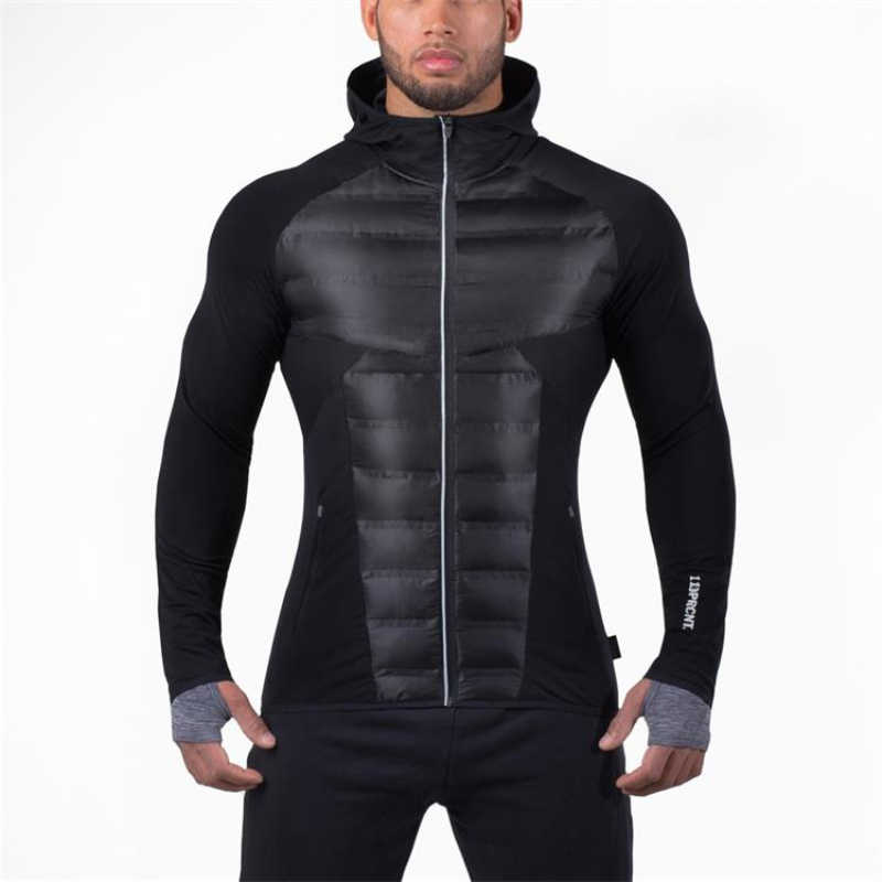 Jas Mannen Winter Herfst Running Gym Sport Jas Plus Size Fitness Warm Down Jassen Hoodies Jongens Gym Jogging Mannelijke jas