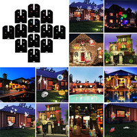 laser diode Christmas Projector Light Decorations12 slides with Remote indoor/outdoor powerful lighting for Garden,Party,Holiday