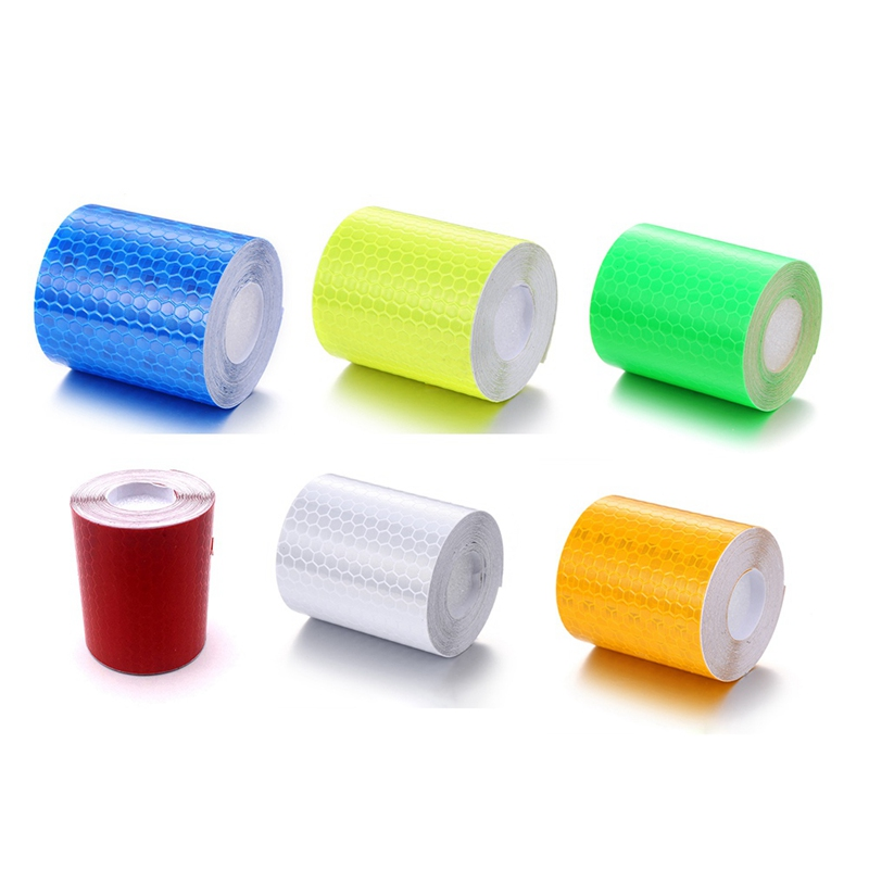 5cmx3m Reflective Bicycle Stickers Adhesive Tape for Bike Safety White Red Yellow Blue Bike Stickers Bicycle Accessories