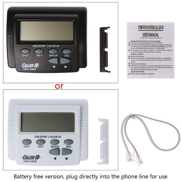 BGEKTOTH 1 セット高品質のプラスチックデュアル信号 FSK/DTMF 電話コールボックス発信者番号の携帯電話の液晶ディスプレイ