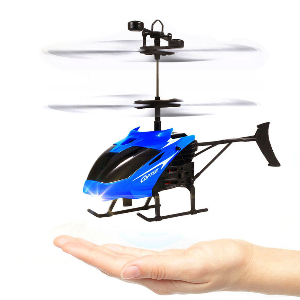 Image 4 - Flying Mini RC Infraed Induction Helicopter Aircraft Flashing Light Toy For Kids USB Charging  induction Helicopter Aircraft-in RC Helicopters from Toys & Hobbies