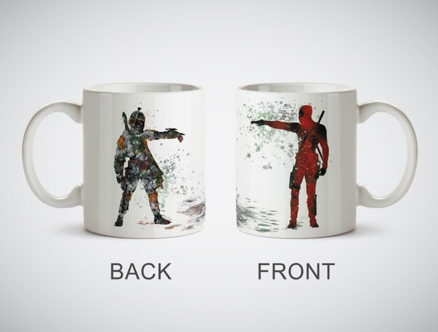 Star Wars Deadpool vs Boba fett becher Küche Decor keramik kunst ...