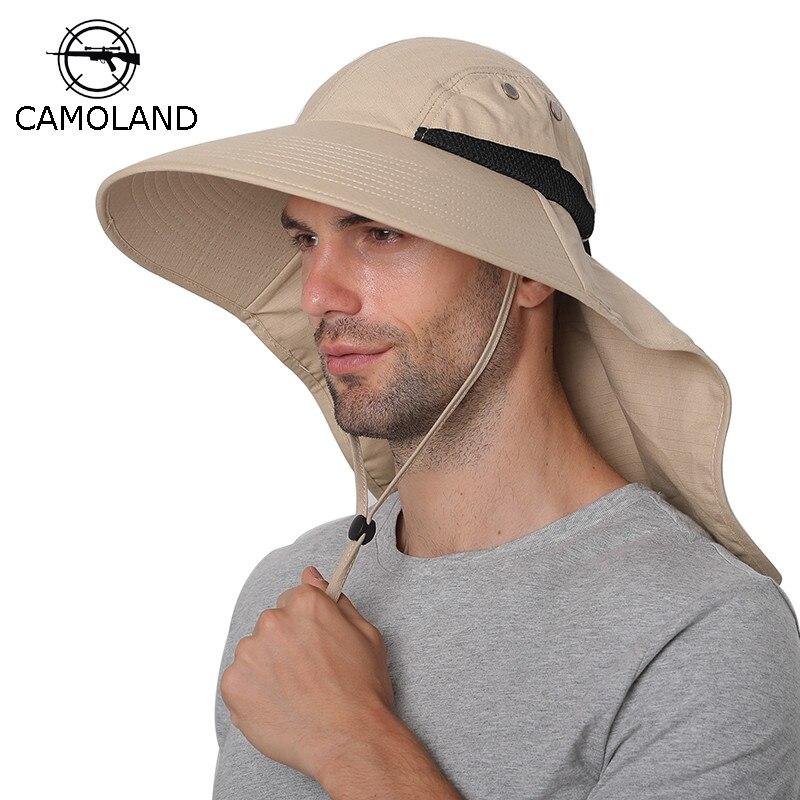 chapeau-de-soleil-d'ete-hommes-femmes-coton-boonie-chapeau-avec-rabat-de-cou-protection-uv-exterieure-large-bord-randonnee-peche-safari-seau-chapeau