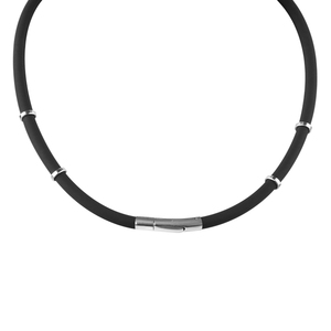 Image 5 - Noproblem 058black waterproof ion balance therapy health neck pain relief sports silicone tourmaline germanium necklace