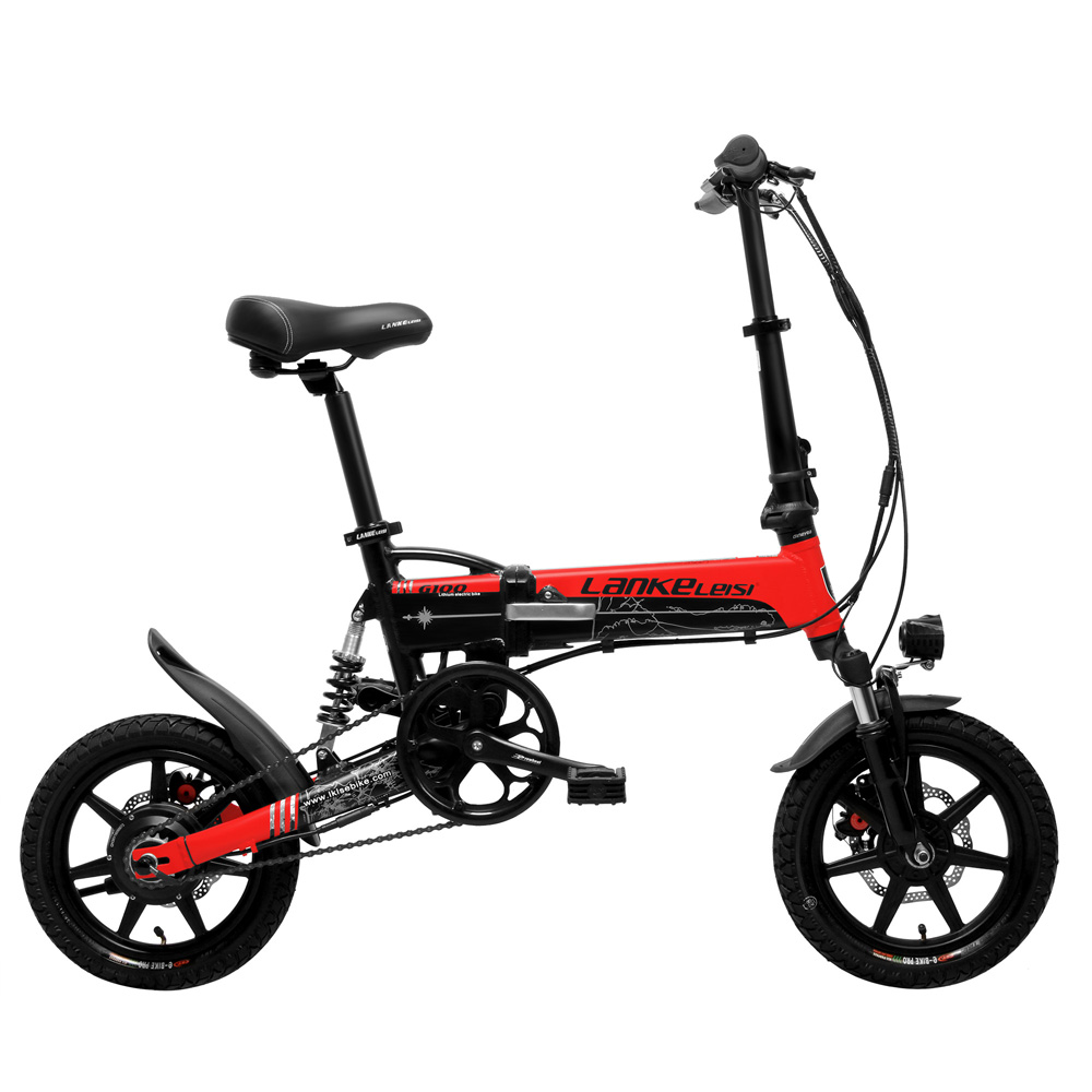 G100 14 Inch Folding Electric Bicycle, 400W Powerful Motor, Full Suspension, Front & Rear Disc Brake, with LCD Display