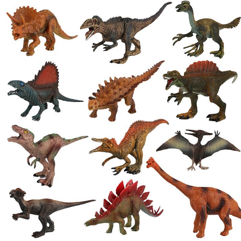 12 pcs/set  Dinosaurs toy Stegosaurus  Tyrannosaurus Rex Tyrannosaurus Rex Pterosaur toy for children toy12 pcs/set  Dinosaurs toy Stegosaurus  Tyrannosaurus Rex Tyrannosaurus Rex Pterosaur toy for children toy