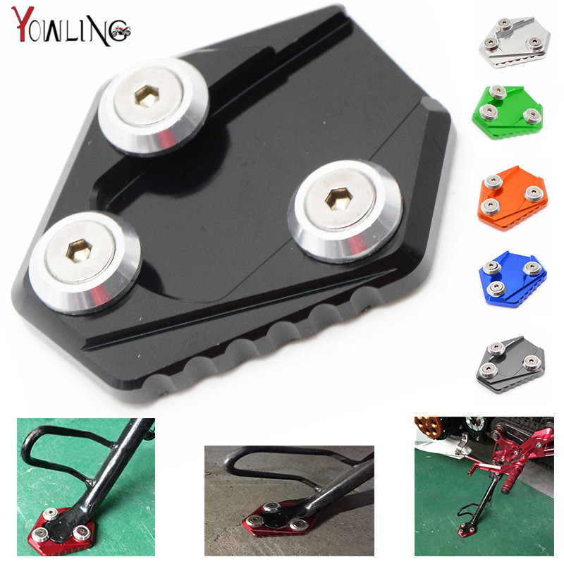 CNC Motorcycle  Side Kickstand Stand Extension Plate SIDE STAND ENLARGER For HONDA MSX 125 MSX125 стоимость