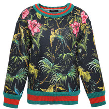 Autumn Spring France   Italy Pringting  Flower Bird Vintage  Space cotton Pullover hoodies Tops Tees Girl Fashion Girl outwear