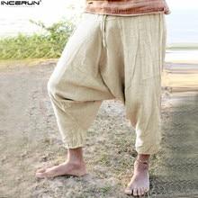 Summer S-5XL Retro Ethnic Women Baggy Pants Big Crotch Trousers Elastic Waist Harem Pants Wide Legs Men Unsiex Hiphop Plus Size