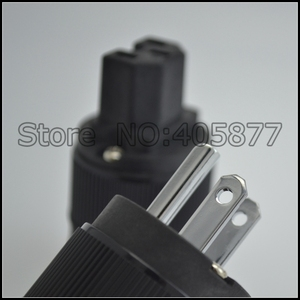 Image 5 - Unprint pairs High End Rhodium Plated USA Power Plug & IEC Connector plug 1pair US power terminal DIY power cable plug connector