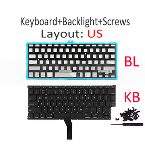 """Image 2 - New for Apple Macbook Air 11"""" A1370 A1465 US USA English Keyboard us Replacement with Backlight Backlight 2011 2015 Year"""