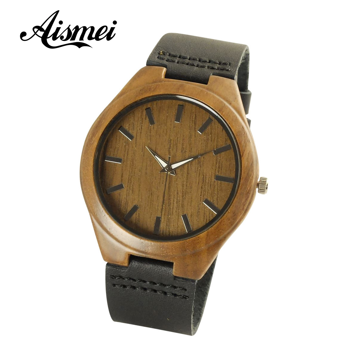 2018 New Arrival Wood watch Japanese Miyota Wristwatches Genuine Leather Bamboo Wooden