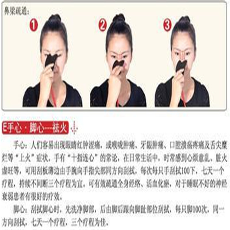 5 Pcs S-shape100% natural black basalt stone relax guasha board for wrinkle removal whitening face care beauty face equipment