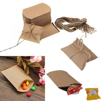 New 50Pcs Kraft Candy Box Wedding Box Hemp Rope Candy Bag For Guests Wedding Favors Gifts