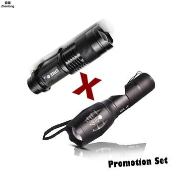 Promotion Set! Hot Sale LED Flashlight XML-T6 Tactical flashlight + Q5 Mini Torch Lanterna Zoomable Waterproof Flashlight Bike sitemap 33 xml