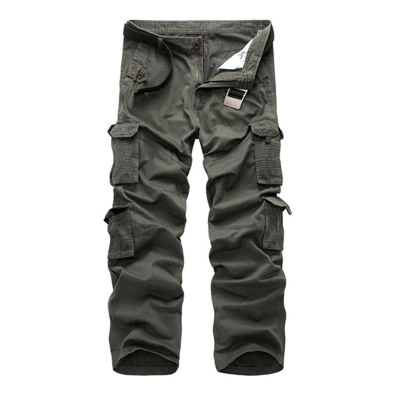 Pantalones Cargo 2018 para hombre, ropa táctica urbana, pantalones de combate, varios bolsillos, pantalones casuales únicos, tamaño de tela de Ripstop 28-40