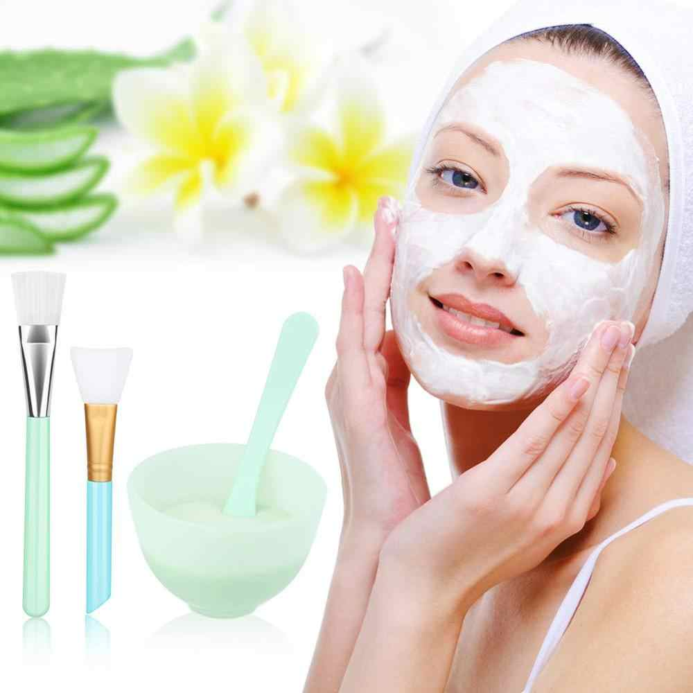 YBLNTEK 4 sztuk twarzy maska maska zestaw misek do mieszania miseczka silikonowa masek twarzy maska szczotka kij DIY uroda makijaż kosmetologii urządzeń
