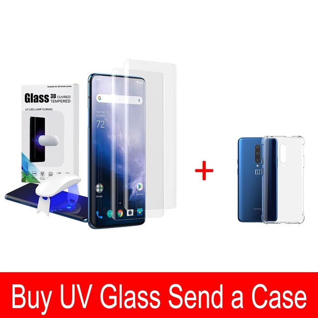 For Oneplus 7 Pro Screen Protector with fingerprint unlock UV Glass film full cover for Oneplus 7 Pro tempered glass