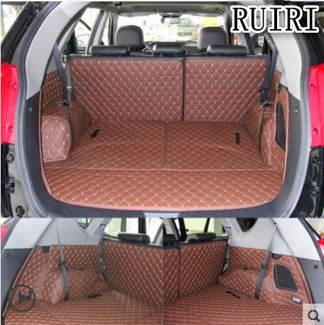 Full Set Car Trunk Mats For Hyundai Grand Santa Fe 7 Seats 2018-2013 Durable Cargo Liner Mat Boot Carpets For Grand Santafe 2015