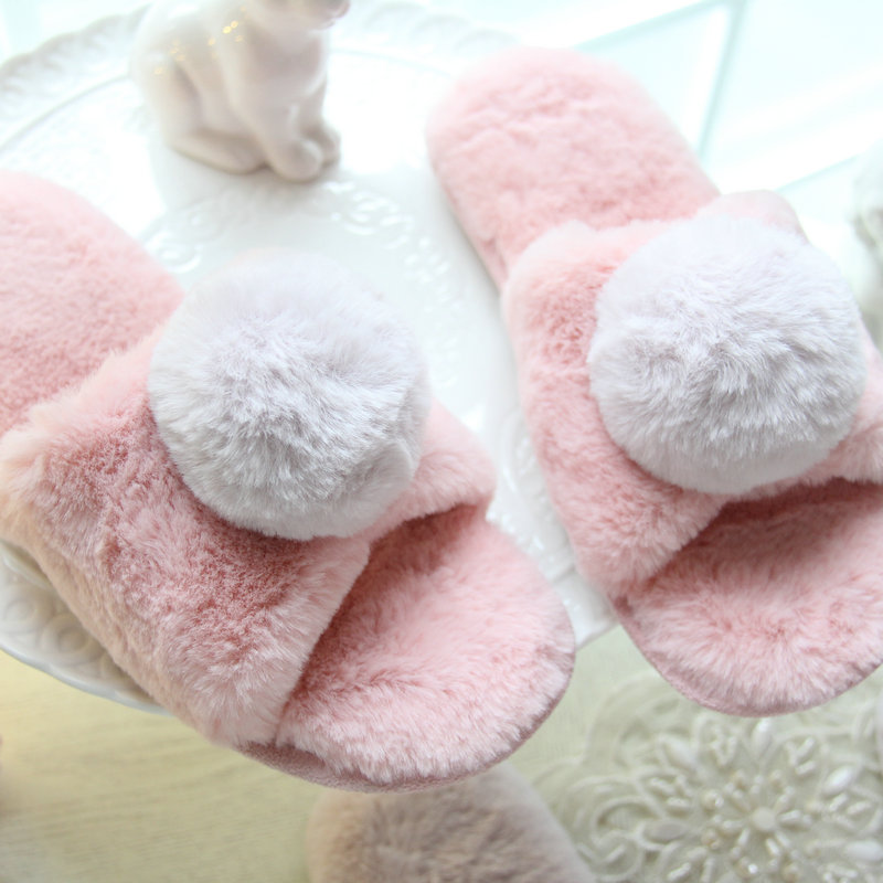 Spring and summer 2017 new style Women Shoes Plush Slippers Indoor Home Shoes Venonat Cotton Slippers for bedroom house  shoes soft house coral plush slippers shoes white