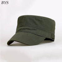 Simple Stylish Army Military Hat Cotton Unisex Flat Roof Trucker Hats Baseball Cap For Men Outdoor