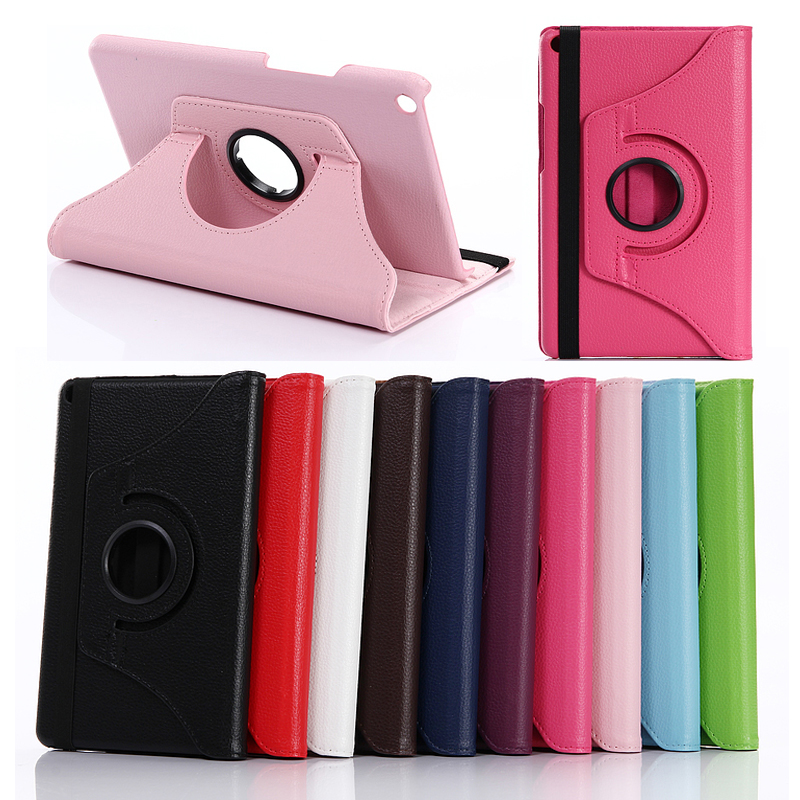 For Huawei MediaPad T3 8.0 KOB-L09 KOB-W09 8.0 Tablet Flip Pu Leather 360 Degree Rotating Case Stand Cover