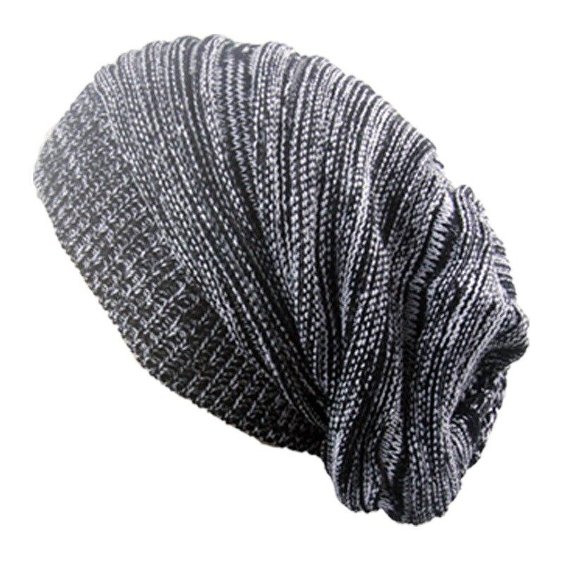 Men S Winter Hat Knitted Hat Long Baggy Beanies For Men