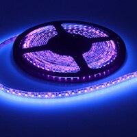 12ボルト5メートルuv紫外線ledブラックライト夜釣りストリップランプライト3528 smdホワイトpcb ledストリップライト