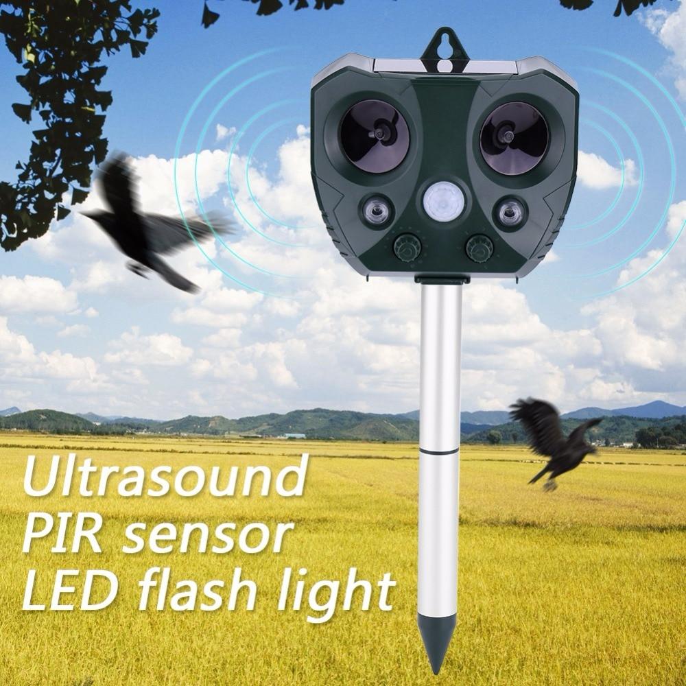 Outdoor Ultrasonic Solar Bird Repeller Garden Mole Mice Ultrasound Dog Control Ahuyentador Fox Rodent Rats Pest Animal Repeller