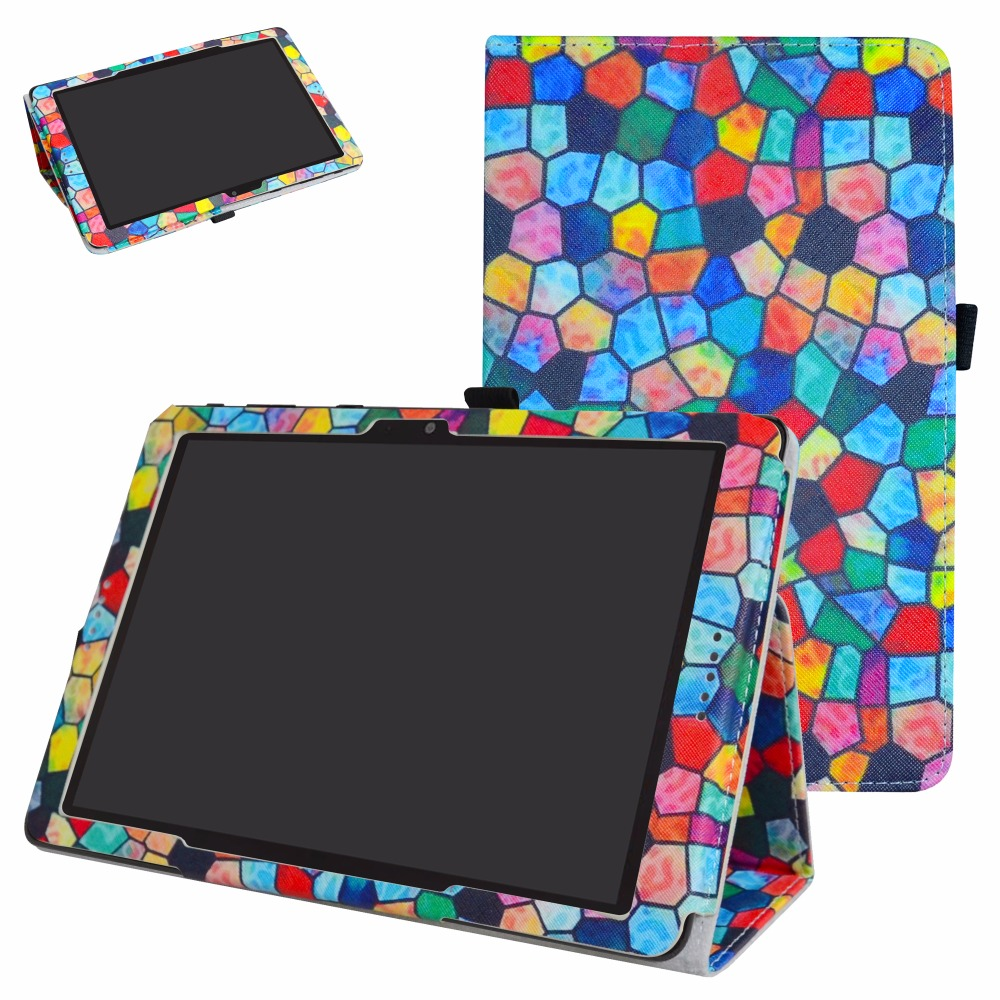 For AT&T Primetime Tablet Case, Folio Stand Cover Magnetic Flip PU Leather Case For 10.0 AT&T Primetime Tablet