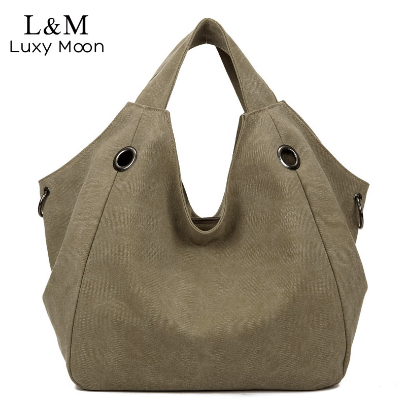 Famous Brand Canvas Handbag Women Shoulder Bag Fashion Casual Tote Bags Designer Large Capacity Handbag 2017 bolso mujer XA2H aosbos fashion portable insulated canvas lunch bag thermal food picnic lunch bags for women kids men cooler lunch box bag tote