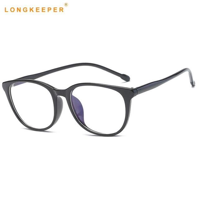 d2c226fabd11 LongKeeper TR90 Flexible Frame Man Glasses Optical Eyeglasses Men Women  Reading Oval Glasses Eyewears 2018 Hot Sale AMP5012