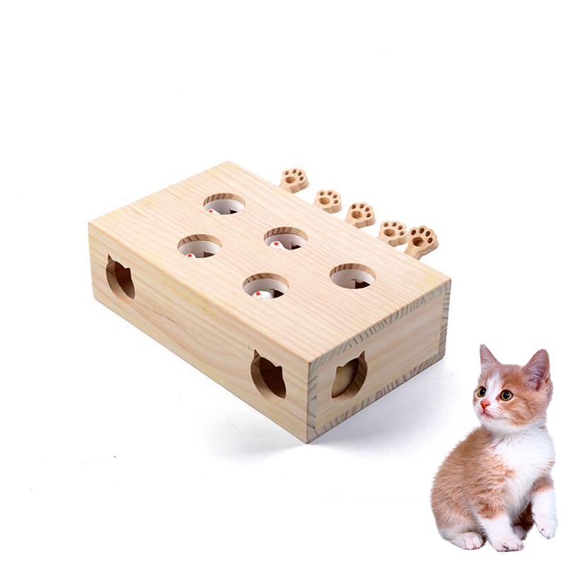 2019 populaire Pet chat jouets haute qualité mise à niveau Pet chat divertissement jouet avec 5 trous souris trou chat attraper morsure jouet interactif