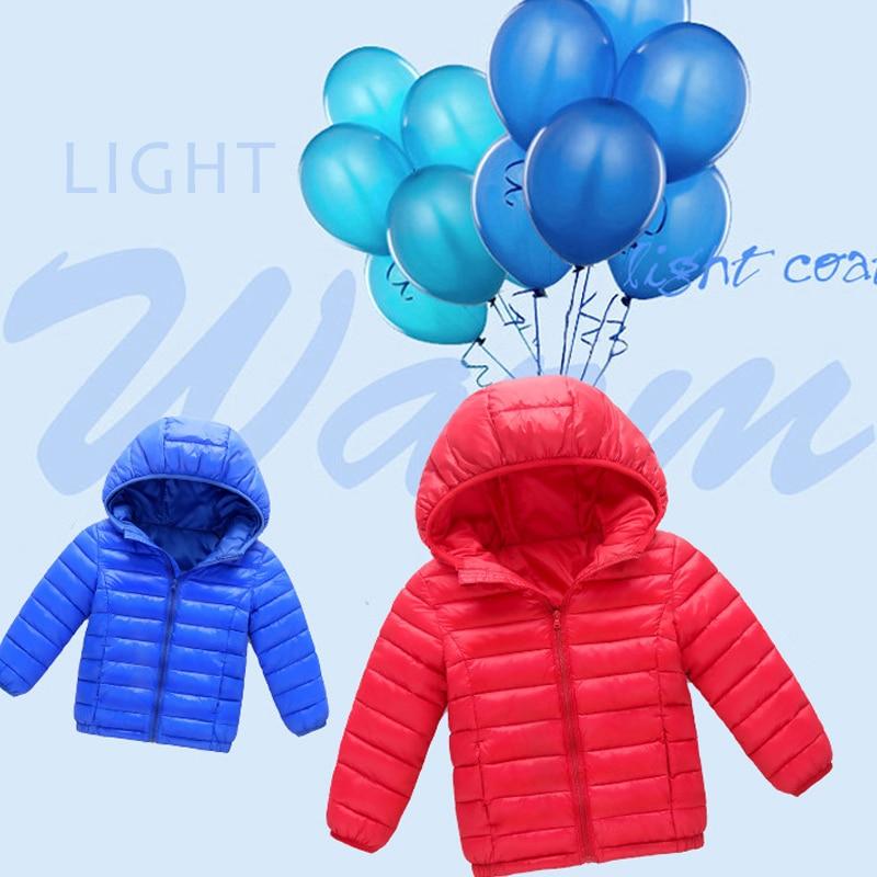 Children Coat Spring Autumn Lightweight down Cotton Kids Jacket Boys Outerwear enfant Coats Baby Clothes girl jacket windbreaker
