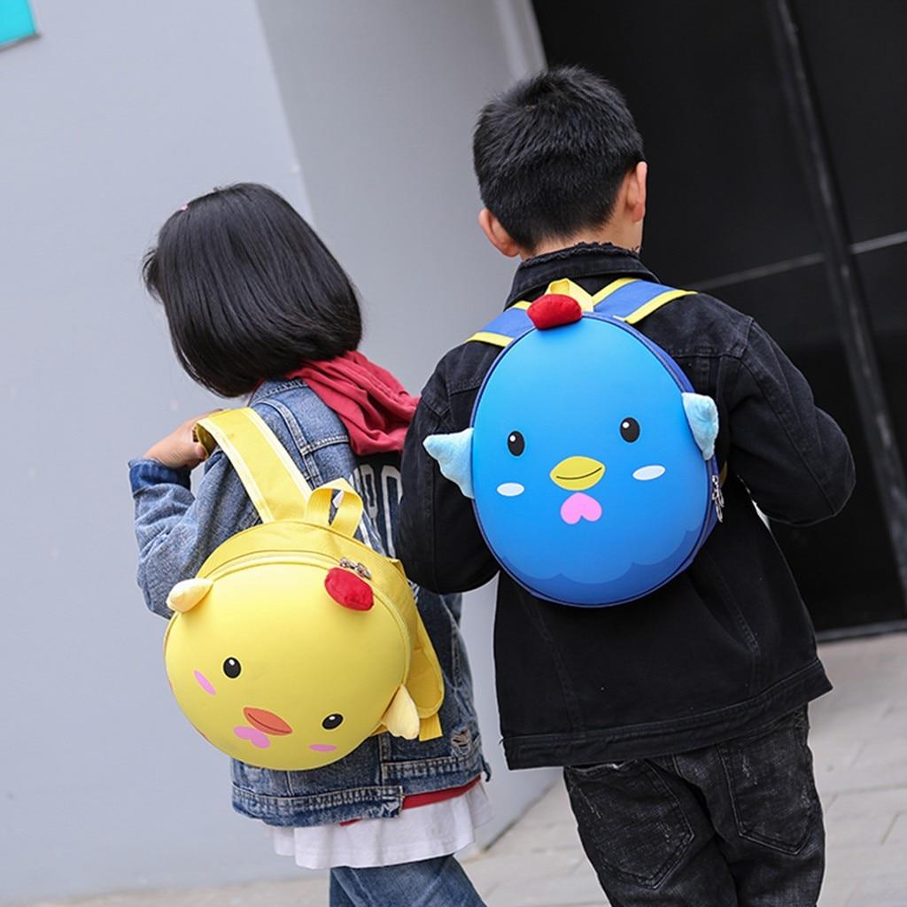 Children Backpack Kids Boys Girls Fashion Cute Cartoon 3D Chick Shoulder Backpack Bags Girls And Boys Backpack Mochila Feminina