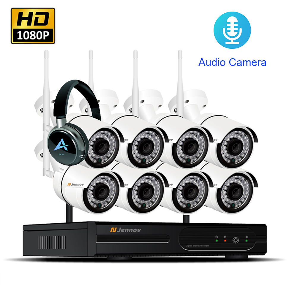 8CH Outdoor Video Surveillance Kit Wifi Home Security Wireless Camera CCTV System 1080P HD IP Camera Audio System NVR Wifi8CH Outdoor Video Surveillance Kit Wifi Home Security Wireless Camera CCTV System 1080P HD IP Camera Audio System NVR Wifi