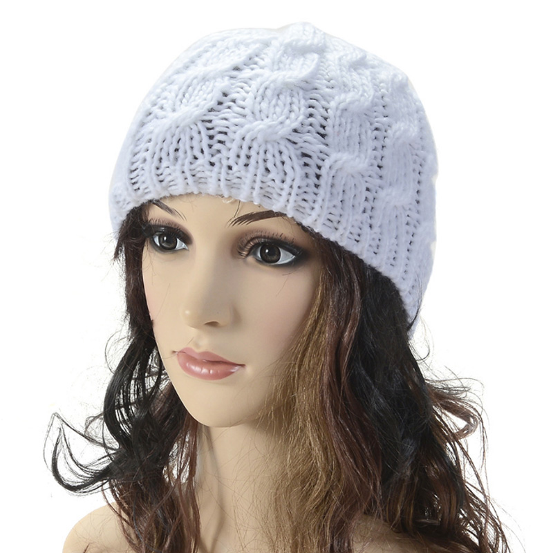 Multicolors Twist Knitted Caps Hats For Women Men Fashion Winter Casual Warm Female Outdoor Ski   Skullies     Beanies
