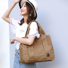 KVKY Brand Women's Canvas Shoulder Bag High Quality Tote Hand