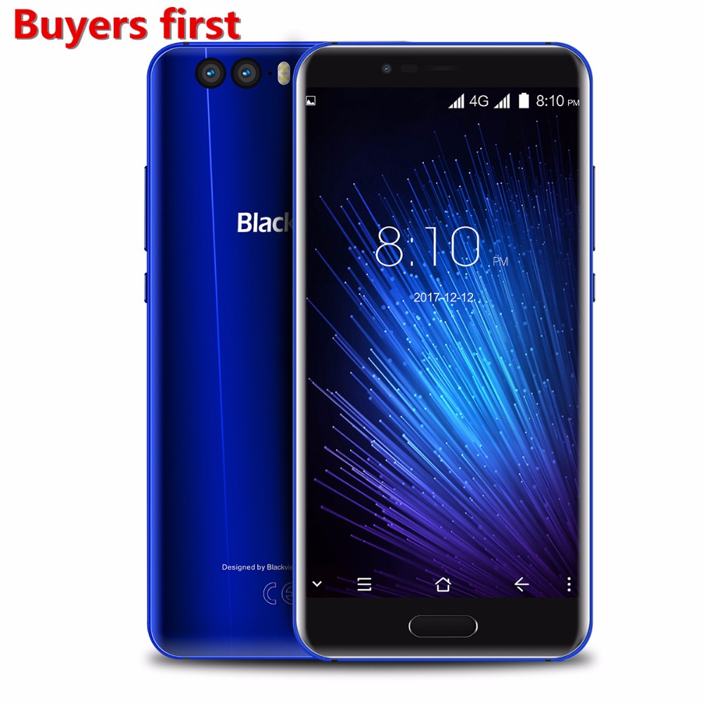Blackview P6000 Visage ID Smartphone Helio P25 6180 mah batterie RAM 6 gb ROM 64 gb 5.5 FHD 21MP android 7.1 4g LTE Mobile téléphone