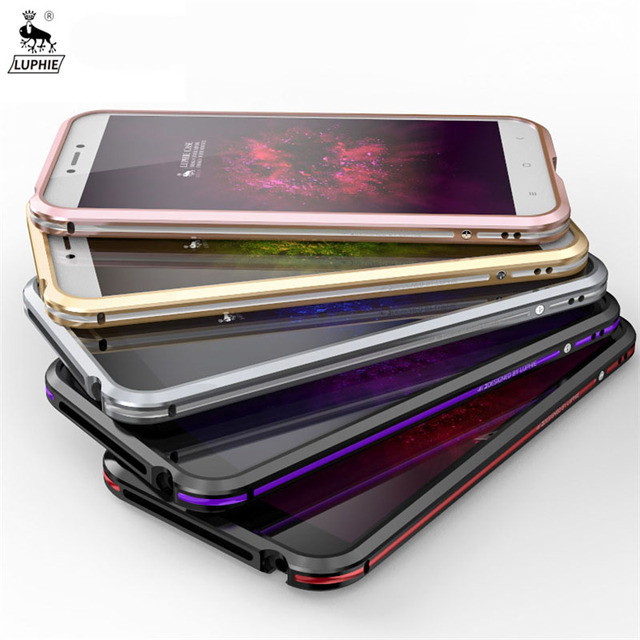 online retailer a4def 10658 Original LUPHIE xiaomi redmi 4x Aluminum Metal Frame Case Dual Color ...