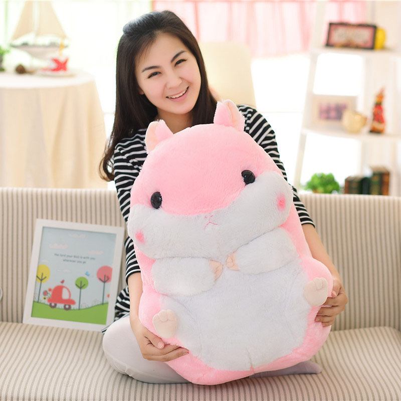 38cm 55cm Hamster Plush Toys Cute Stuffed Simulation Hamster Doll Pink Geryn Gift For Childre KidsToy D73Z super cute plush toy dog doll as a christmas gift for children s home decoration 20