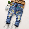 2017 spring autumn kids jeans pant boy and girl denim trousers