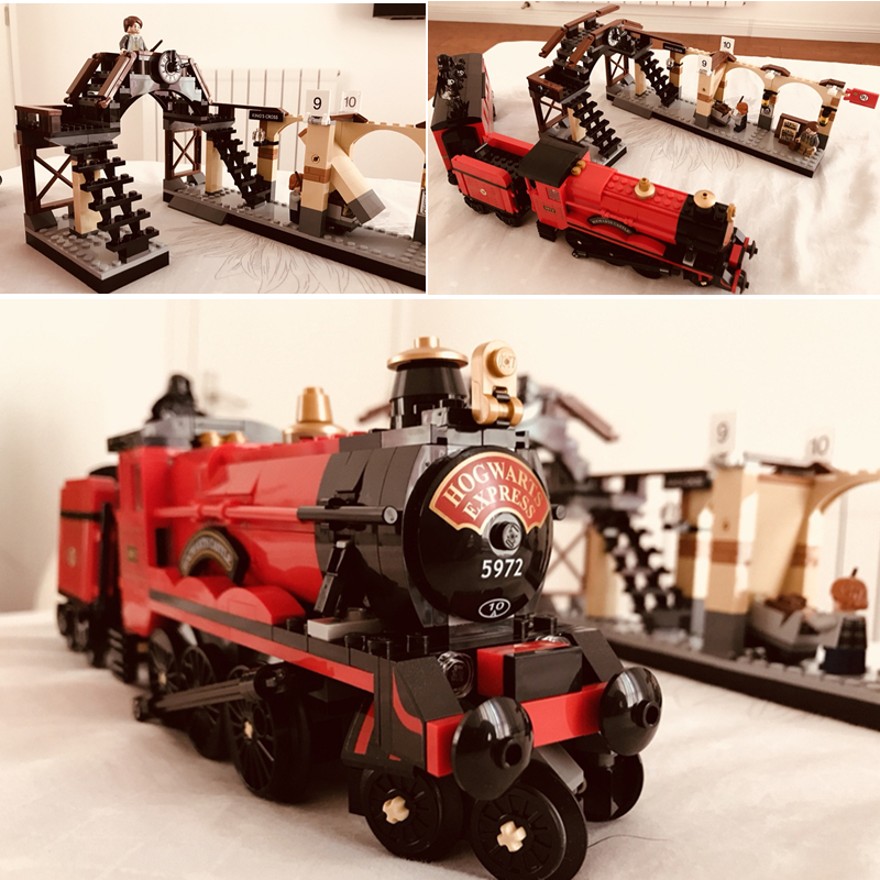 16055 Harri Potter Movie Hogwarts Express Train Building Blocks Bricks Toys Compatible Legoings Kids Gift16055 Harri Potter Movie Hogwarts Express Train Building Blocks Bricks Toys Compatible Legoings Kids Gift