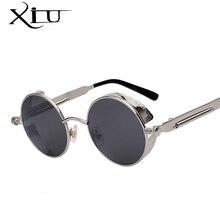 Round Metal Steampunk Retro Vintage Sunglasses