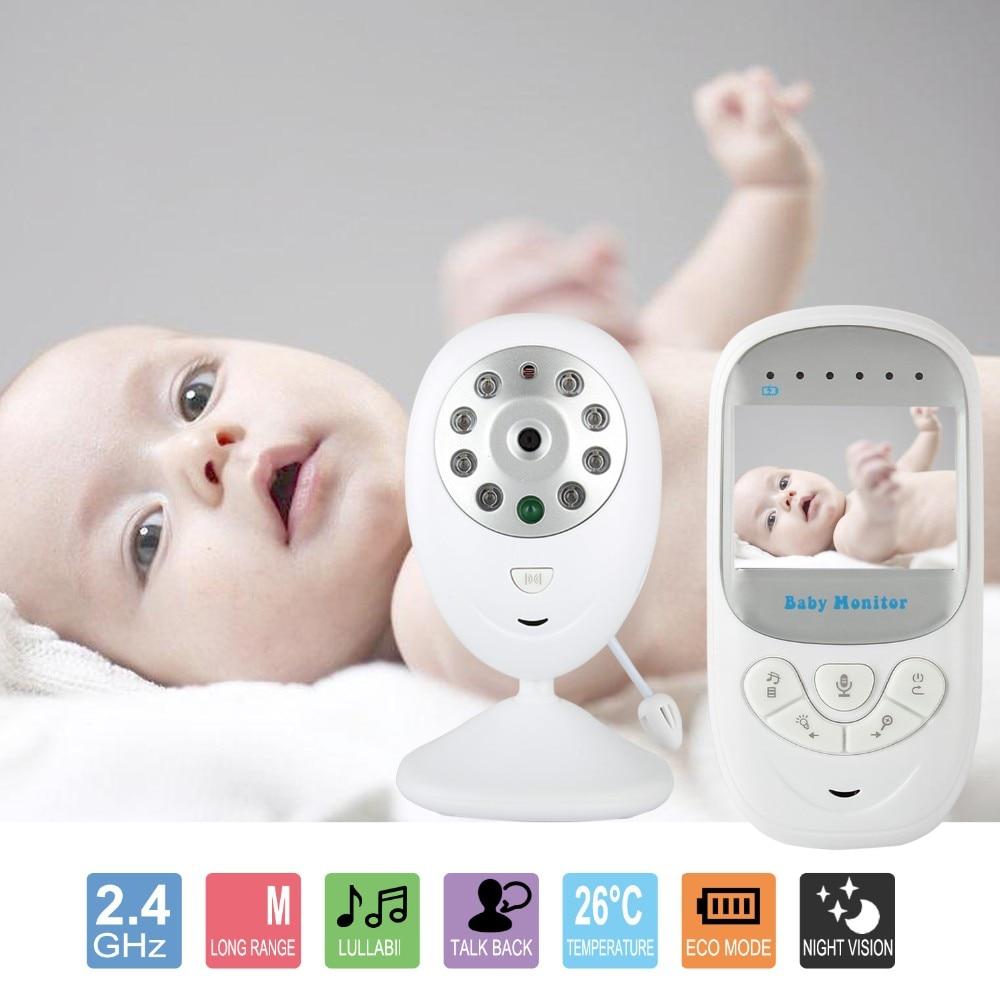 babykam babyphone camera nanny 2.4 inch IR Night Light Vision Lullabies Temperature Sensor Intercom Zoom baby phone camera nanny