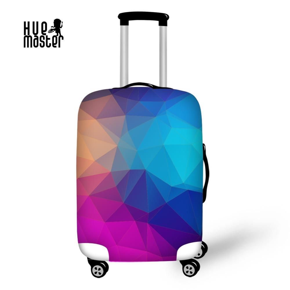 Suitcase Cover Travel Accessories Luggage Protective Covers Geometric Series Copri Valigia Capa Mala,Fits 18-30 Inch Suitcase